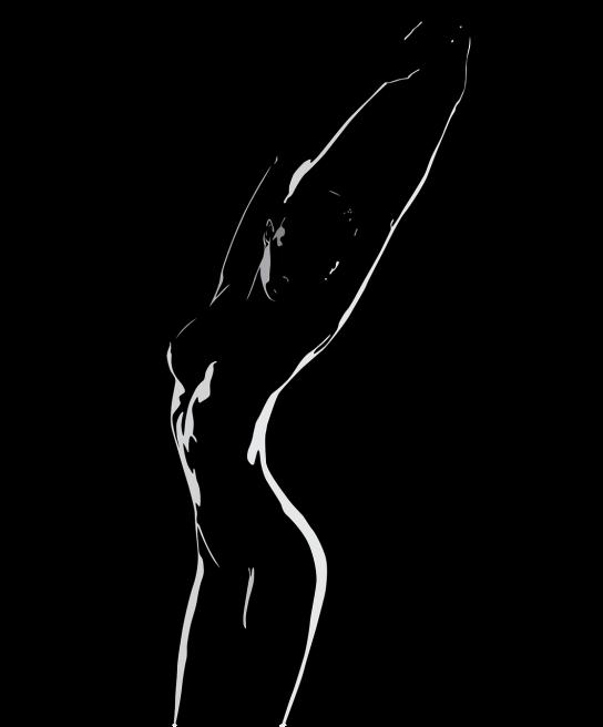 Siluetă de femeie cu fundal negru